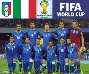 Puzzle Sélection de l'Italie, Groupe D, Brésil 2014