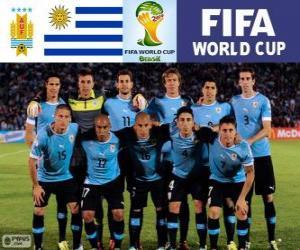 Puzzle Sélection de l'Uruguay, Groupe D, Brésil 2014