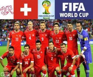 Puzzle Sélection de Suisse, Groupe E, Brésil 2014