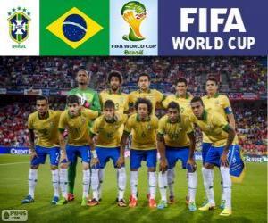 Puzzle Sélection du Brésil, Groupe A, Brésil 2014