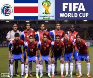 Puzzle Sélection du Costa Rica, Groupe D, Brésil 2014