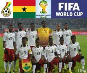 Puzzle Sélection du Ghana, Groupe G, Brésil 2014