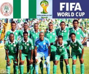 Puzzle Sélection du Nigeria, Groupe F, Brésil 2014