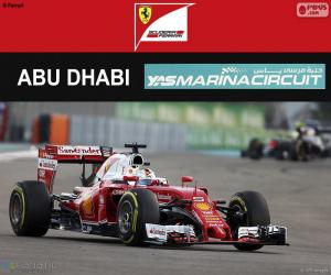 Puzzle S. Vettel, GP Abu Dhabi 2016