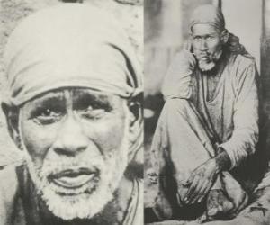 Puzzle Sai Baba de Shirdi, gourou indien, yogi et fakir qui est considéré par ses disciples comme un saint
