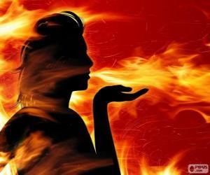 Puzzle Salamandres, fée de feu