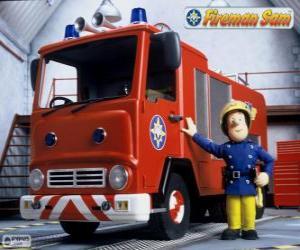 Puzzle Sam à côté de Jupiter le camion d'incendie