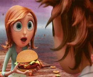 Puzzle Sam Flint surpris enseigne un hamburger