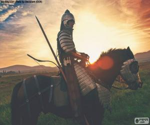Puzzle Samouraï à cheval