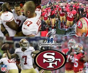 Puzzle San Francisco 49ers champion NFC 2012
