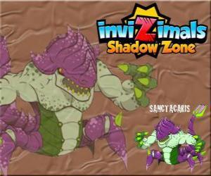Puzzle Sanctacaris. Invizimals Shadow Zone. Le premier dinosaure à utilisé ses mains pour lutter contre