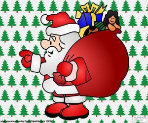 Puzzle Santa Claus, dessin
