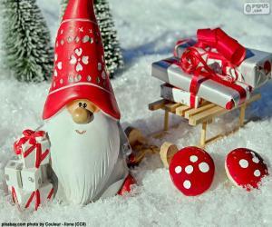 Puzzle Santa Claus, ornement de Noël