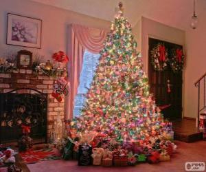 Puzzle Sapin de Noël décoré