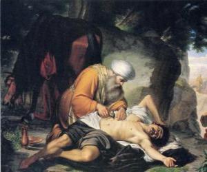 Puzzle Scène de la Parabole du Bon Samaritain