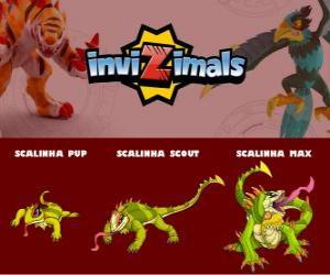 Puzzle Scalinha en trois phases Scalinha Pup, Scalinha Scott et Scalinha Max, Invizimals