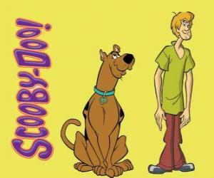 Puzzle Scooby-Doo et Shaggy, deux amis