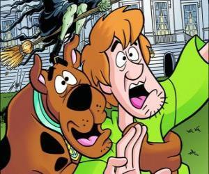 Puzzle Scooby-Doo et son ami Shaggy fugue avec peur