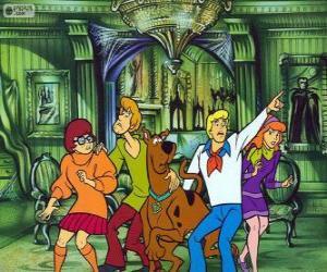 Puzzle Scooby Doo et son groupe d'amis ont peur