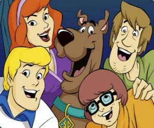 Puzzle Scooby Doo et toute la bande: Sammyy, Véra, Fred et Daphne