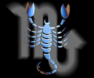 Puzzle Scorpion. Le scorpion. Huitième signe du zodiaque. Nom latin est Scorpius