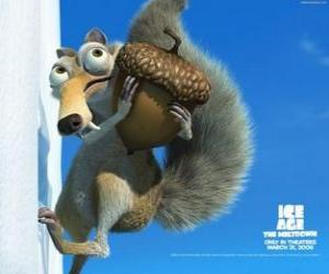 Puzzle Scrat, l'écureuil dent sabre obsédé par les glands