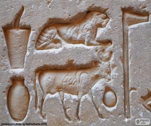 Puzzle Sculptures en hiéroglyphes