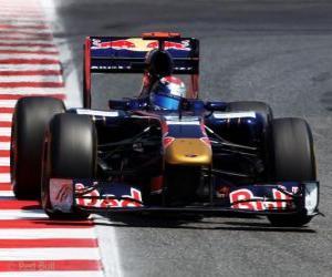 Puzzle Sebastien Buemi - Toro Rosso - Barcelone 2011