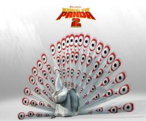 Puzzle Seigneur Shen, un paon albinos est l'ennemi principal dans les aventures du film Kung Fu Panda 2