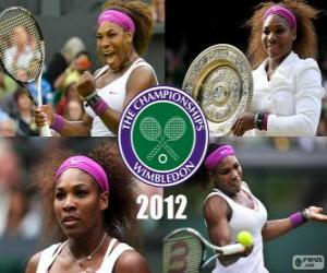 Puzzle Serena Williams champion de Wimbledon 2012