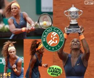 Puzzle Serena Williams champion de Roland Garros 2013