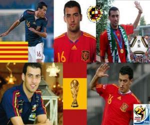 Puzzle Sergio Busquets (El Badia poulpe) milieu de terrain de l'équipe nationale Espagnol