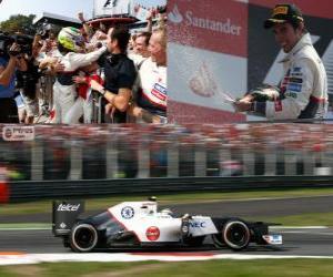 Puzzle Sergio Pérez - Sauber - Grand Prix d'Italie 2012, 2 nd classés