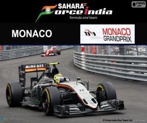 Puzzle Sergio Perez, G.P de Monaco 2016