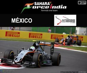 Puzzle Sergio Perez, GP Mexique 2016