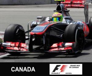 Puzzle Sergio Perez - McLaren - Circuit Gilles-Villeneuve, Montréal, 2013