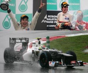 Puzzle Sergio Perez - Sauber - Grand Prix de Malaisie (2012) (2e position)