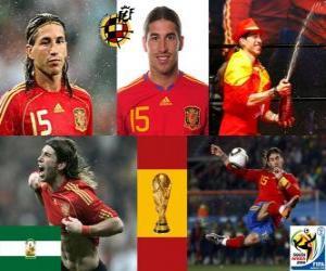 Puzzle Sergio Ramos (des Indiens de Camas), défense de l'équipe nationale Espagnol
