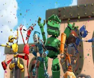 Puzzle Ses amis de Rodney dans Robot City -  Les Oxydes dirigé par Fender