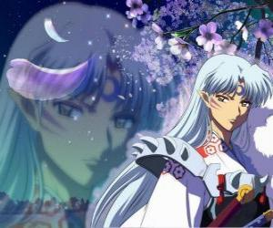Puzzle Sesshomaru, le frère d'Inuyasha. Un démon total sans scrupules qui hait son frère, les humains et les faibles