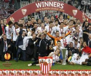 Puzzle Sevilla FC, champion UEFA Europe League 2013-2014