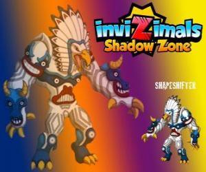 Puzzle Shapeshifter. Invizimals Shadow Zone. Totem énorme avec un pouvoir immense est le dieu de la forêt des Indiens d'Amérique
