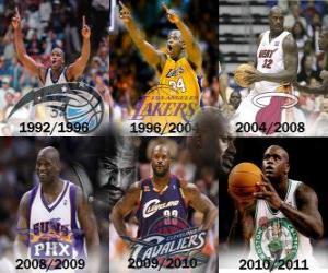 Puzzle Shaquille O'Neal a examiné le joueur le plus dominant dans l'histoire de la NBA. Sur Juin 1, 2011 annoncées sa retraite.