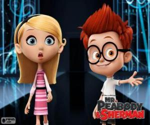 Puzzle Sherman et Penny, deux camarades de classe