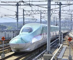 Puzzle Shinkansen bullet train, Japon