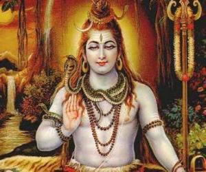 Puzzle Shiva - Le Dieu destructeur  de la Trimoûrti, la Trinité hindoue