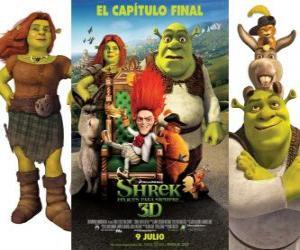 Puzzle Shrek 4 ou Shrek, il était une fin