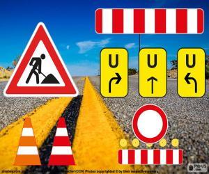Puzzle Signalisation de travaux routiers