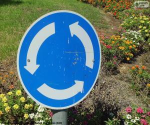 Puzzle Signe carrefour giratoire