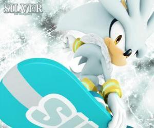 Puzzle Silver the Hedgehog, le hérisson qui vient de l'avenir